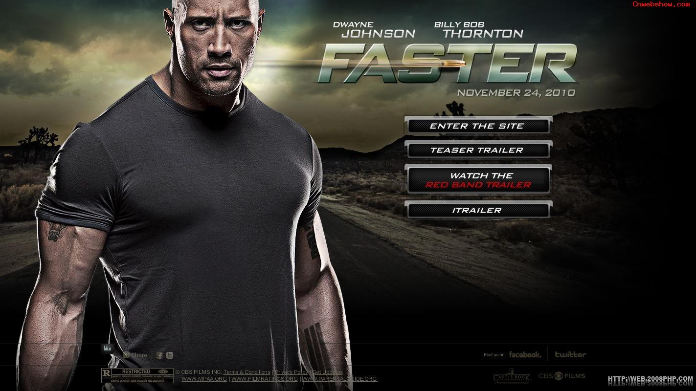 极速复仇电影_惊悚电影《极速复仇Faster》电影宣传网站