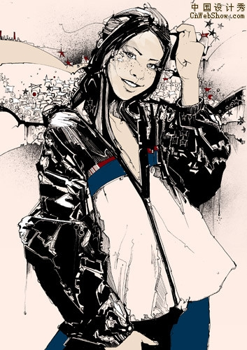 超酷个性另类人物插画欣赏二